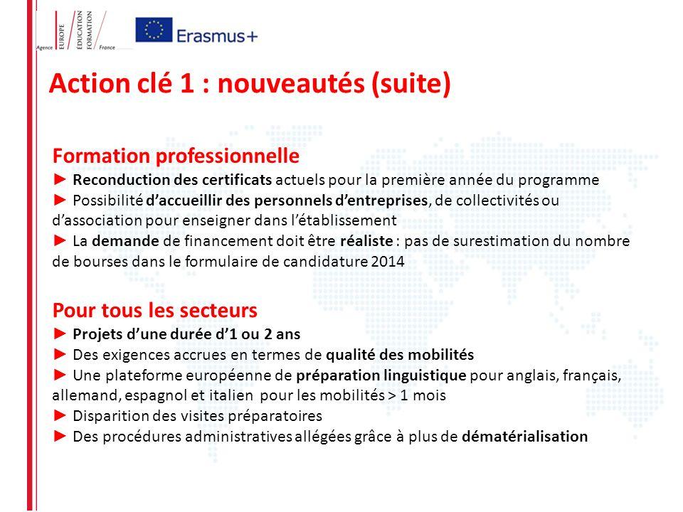 Pour tous les secteurs Projets dune durée d1 ou 2 ans Des exigences accrues en termes de qualité des mobilités Une plateforme européenne de préparatio