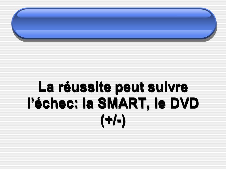 La réussite peut suivre léchec: la SMART, le DVD (+/-)