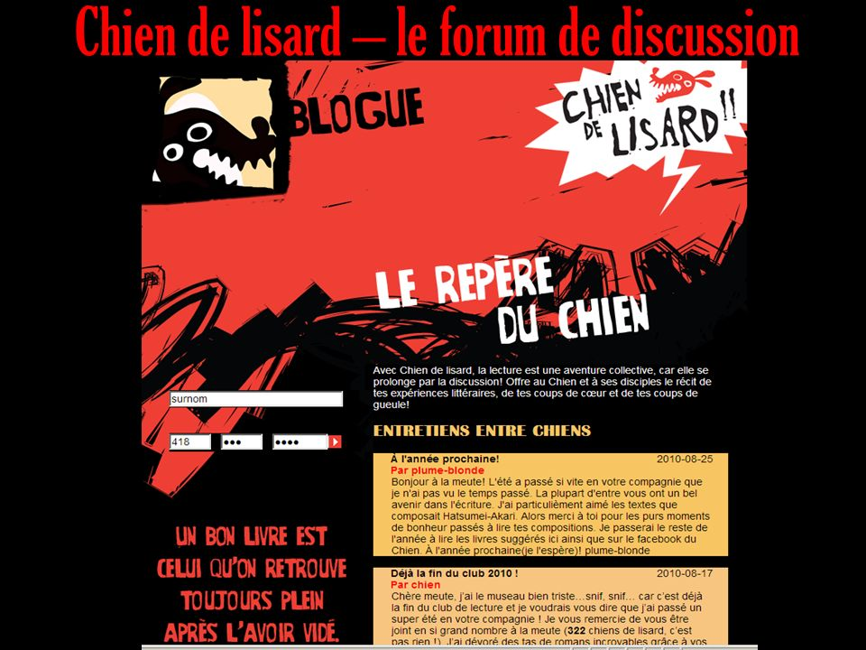 Chien de lisard – le forum de discussion