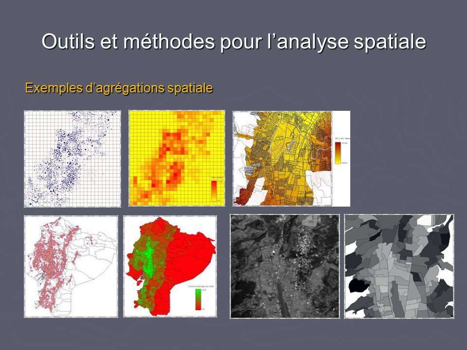 Outils et méthodes pour lanalyse spatiale Exemples dagrégations spatiale