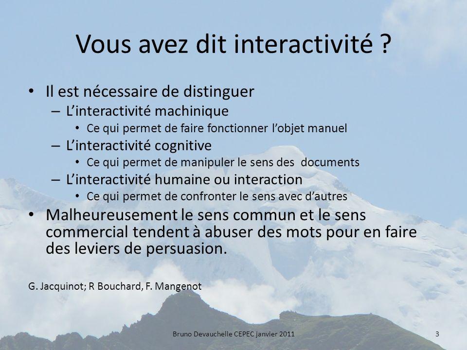 Vous avez dit interactivité .