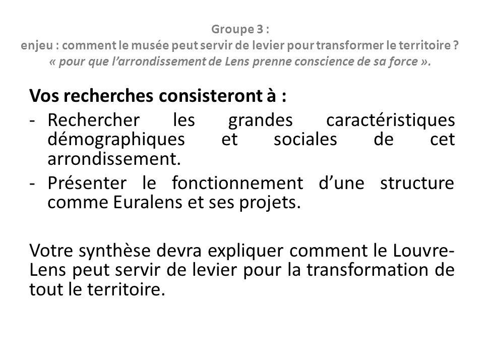 Groupe 4 : enjeu : comment évaluer le projet du Louvre-Lens .