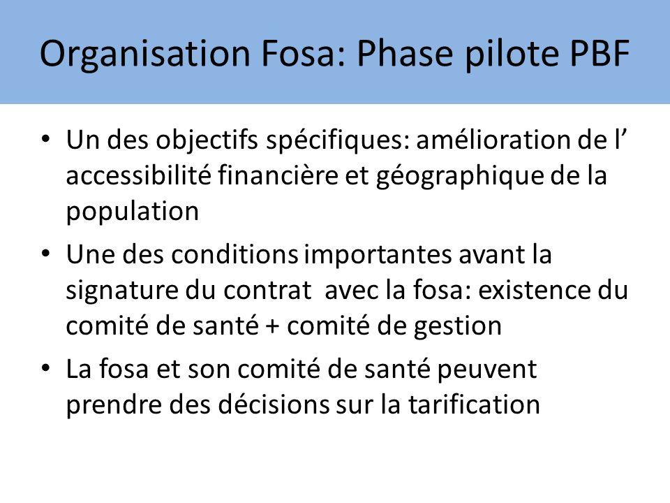 PBF phase pilote (2) Dans le cahier de charge des Cosa et Coges figure lanalyse des charges et des recettes de la fosa Avec lintroduction du PBF ces organes sont devenus très actifs et ont assuré le suivi régulier.