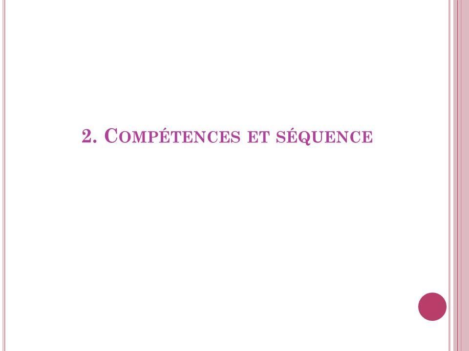 2. C OMPÉTENCES ET SÉQUENCE