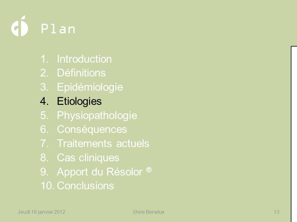 Plan 1.Introduction 2.Définitions 3.Epidémiologie 4.Etiologies 5.Physiopathologie 6.Conséquences 7.Traitements actuels 8.Cas cliniques 9.Apport du Rés