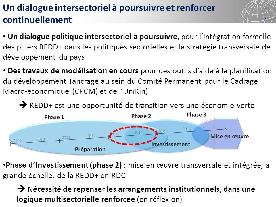 5 Un dialogue intersectoriel à poursuivre et renforcer continuellement Un dialogue politique intersectoriel à poursuivre, pour lintégration formelle d