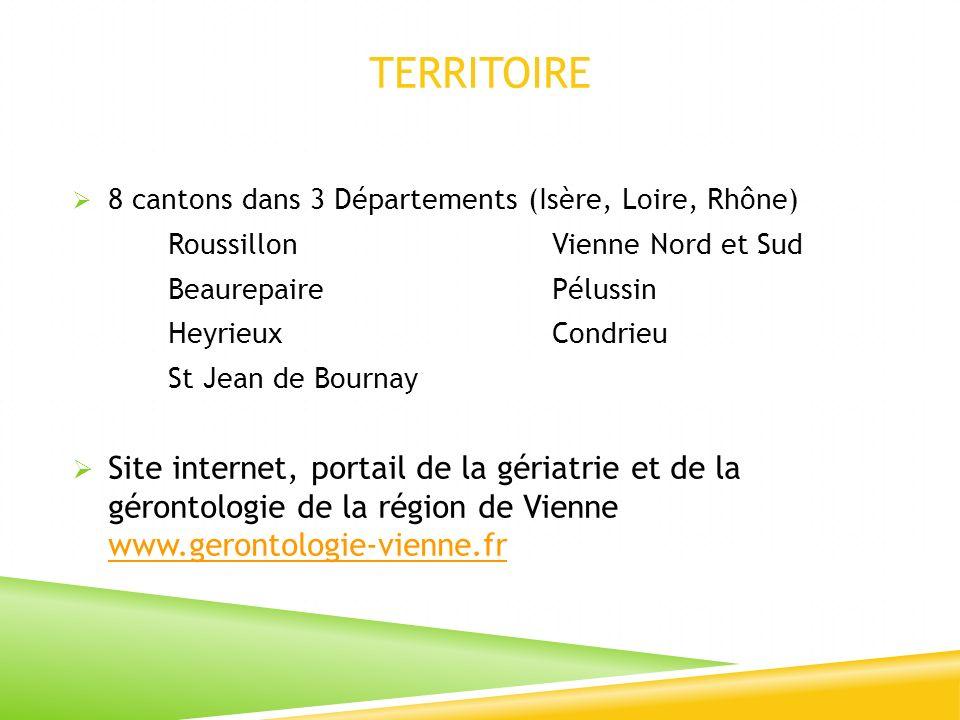 TERRITOIRE 8 cantons dans 3 Départements (Isère, Loire, Rhône) RoussillonVienne Nord et Sud BeaurepairePélussin HeyrieuxCondrieu St Jean de Bournay Si