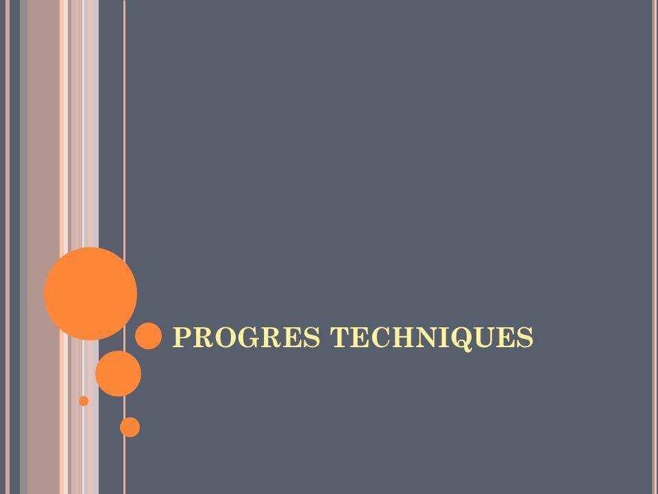 PROGRES TECHNIQUES