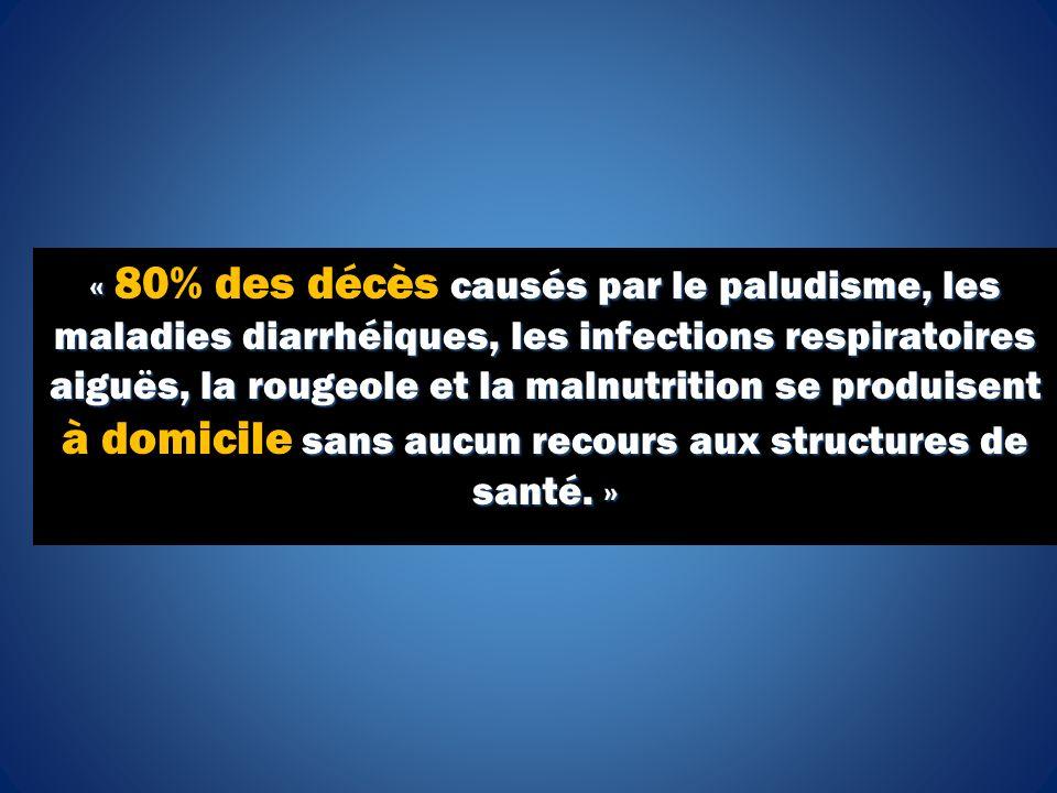 « causés par le paludisme, les maladies diarrhéiques, les infections respiratoires aiguës, la rougeole et la malnutrition se produisent sans aucun rec