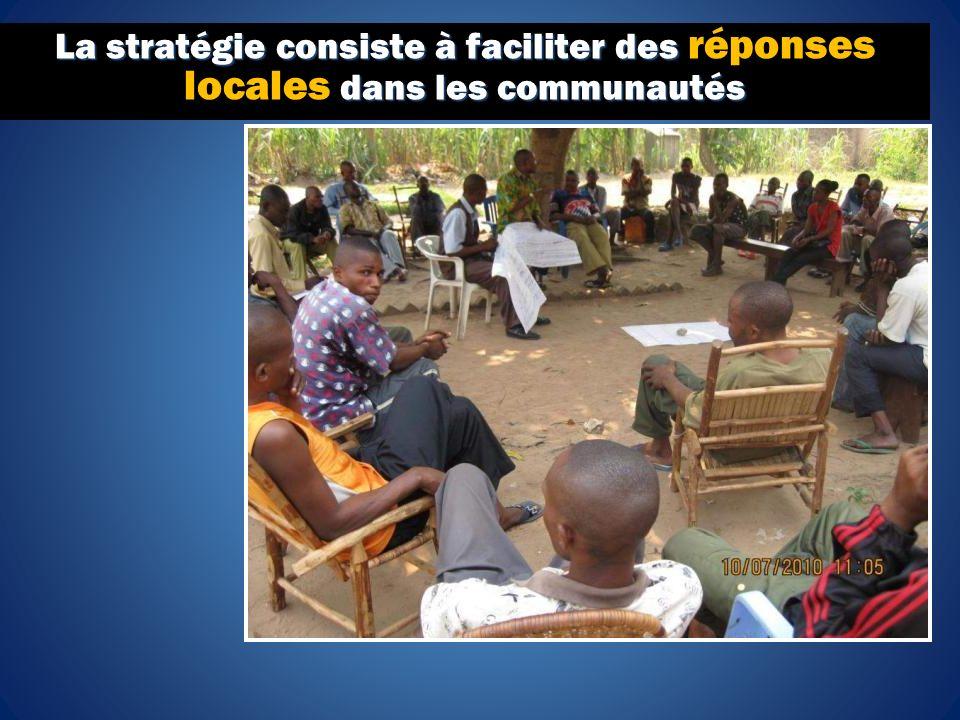 La stratégie consiste à faciliter des dans les communautés La stratégie consiste à faciliter des réponses locales dans les communautés