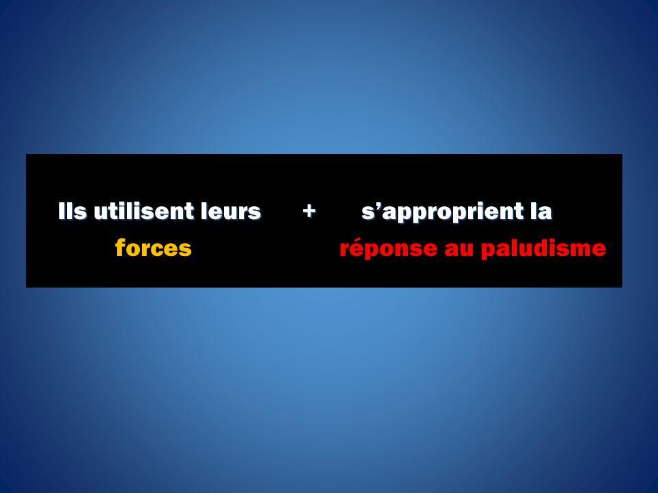 Ils utilisent leurs + sapproprient la Ils utilisent leurs + sapproprient la forces réponse au paludisme