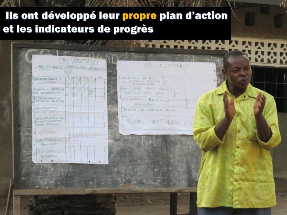 Ils ont développé leur plan daction et les indicateurs de progrès Ils ont développé leur propre plan daction et les indicateurs de progrès