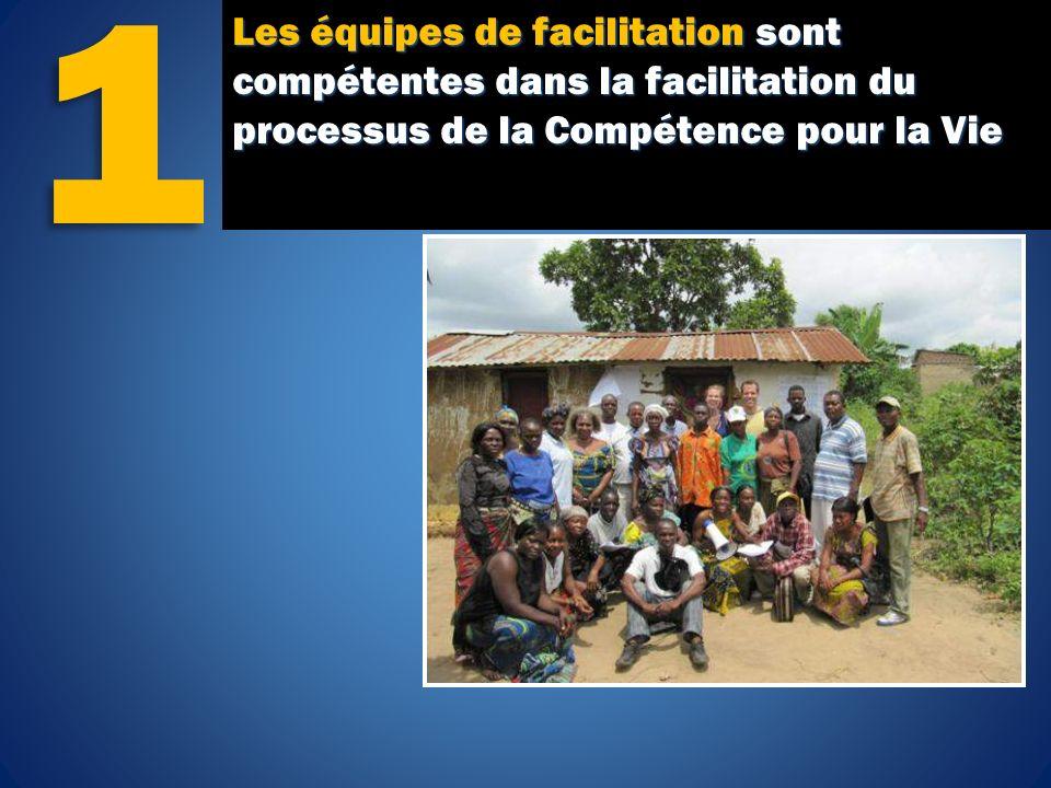 Les équipes de facilitation sont compétentes dans la facilitation du processus de la Compétence pour la Vie 1