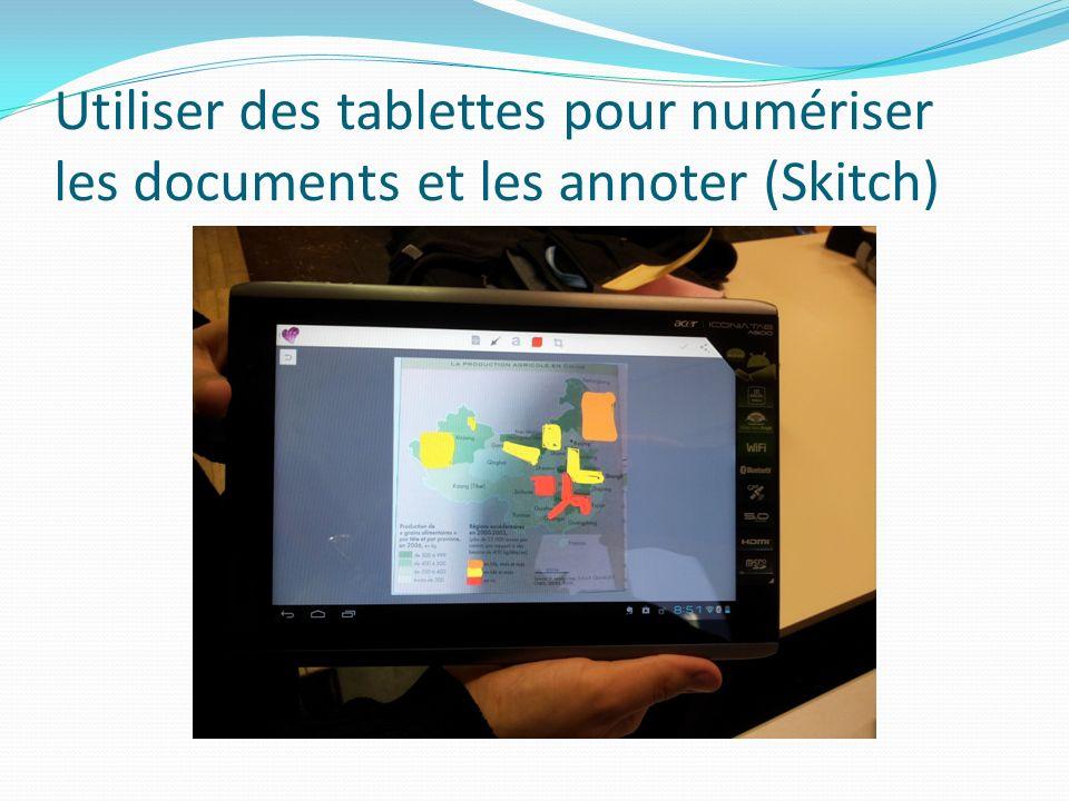 Utiliser des tablettes pour numériser les documents et les annoter (Skitch)