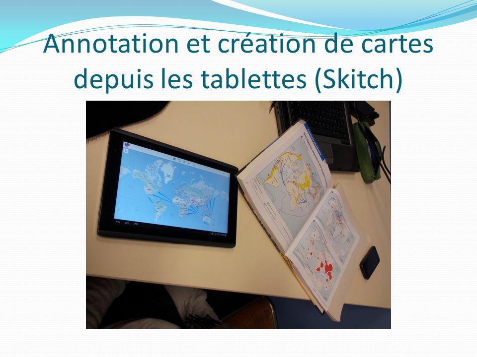 Annotation et création de cartes depuis les tablettes (Skitch)