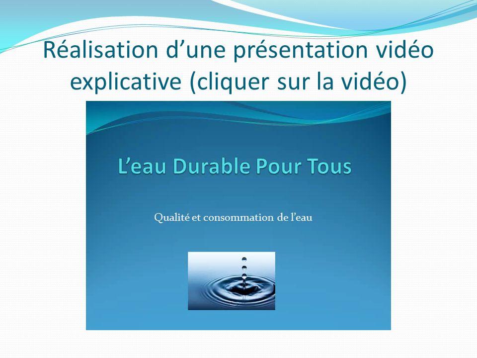 Réalisation dune présentation vidéo explicative (cliquer sur la vidéo)