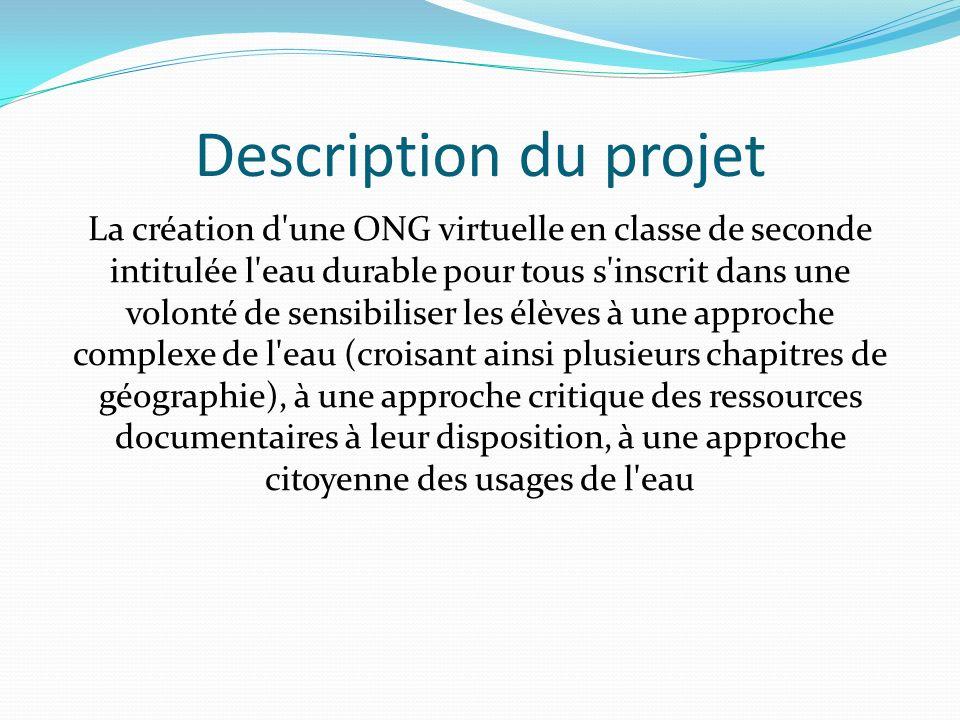 Réalisation dun site web à partir dinfographies Le site web doit être la réalisation finale dun projet sur la coopération sur leau.