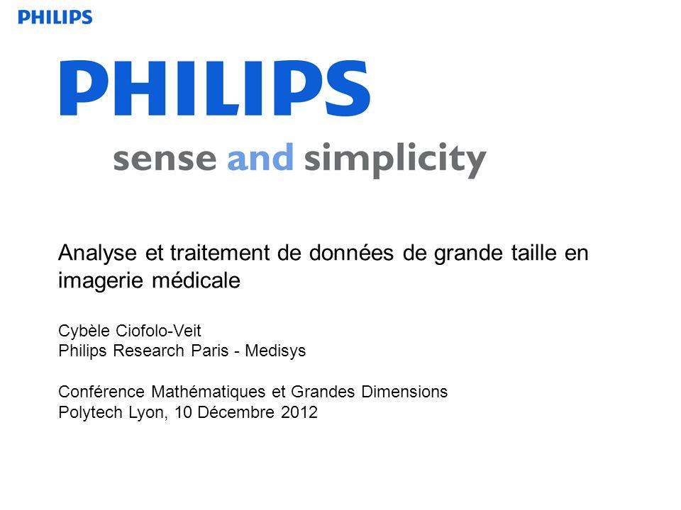 Analyse et traitement de données de grande taille en imagerie médicale Cybèle Ciofolo-Veit Philips Research Paris - Medisys Conférence Mathématiques e