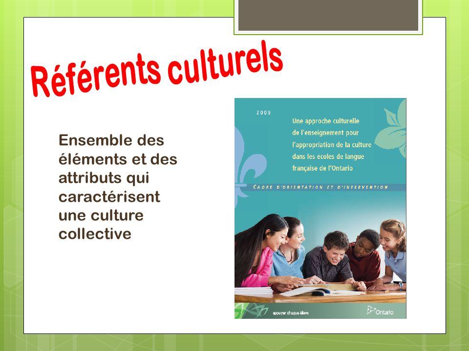 Ensemble des éléments et des attributs qui caractérisent une culture collective