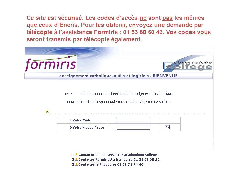 Ce site est sécurisé.Les codes daccès ne sont pas les mêmes que ceux dEneris.
