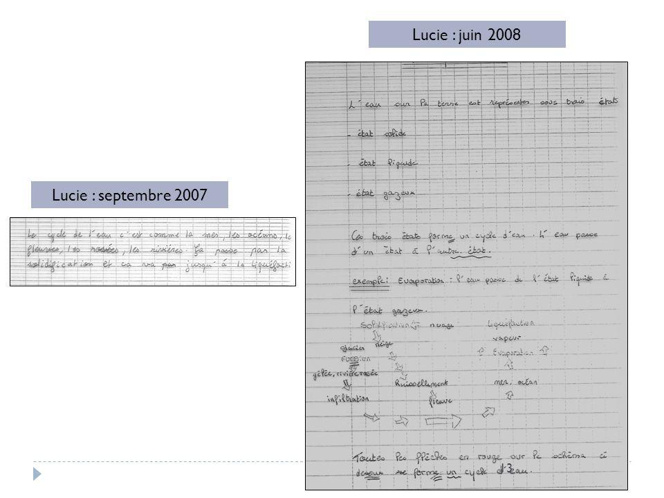 Lucie : septembre 2007 Lucie : juin 2008 13