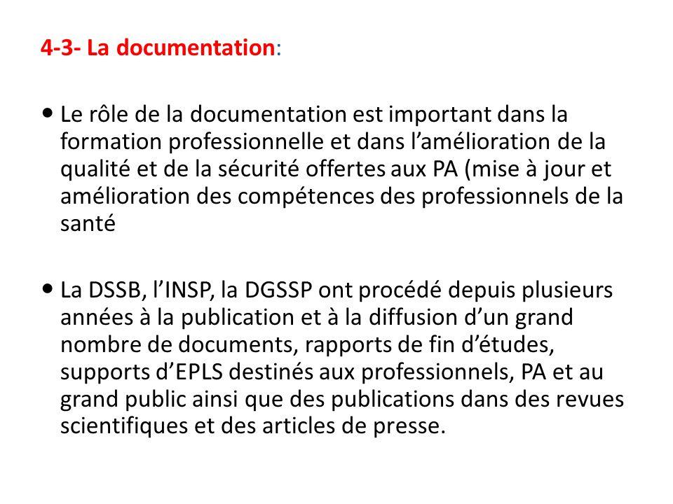 4-3- La documentation: Le rôle de la documentation est important dans la formation professionnelle et dans lamélioration de la qualité et de la sécuri