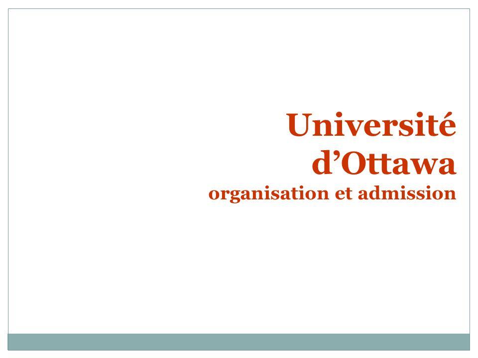 Université dOttawa organisation et admission