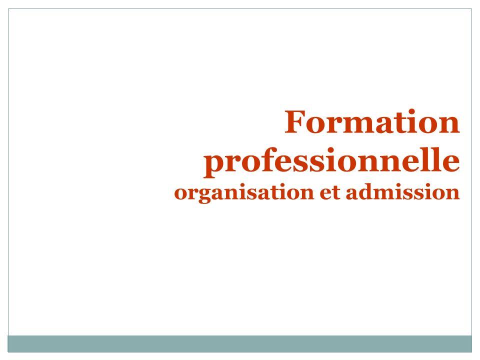Formation professionnelle organisation et admission