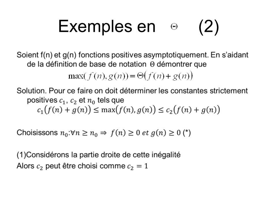 Exemples en (2)