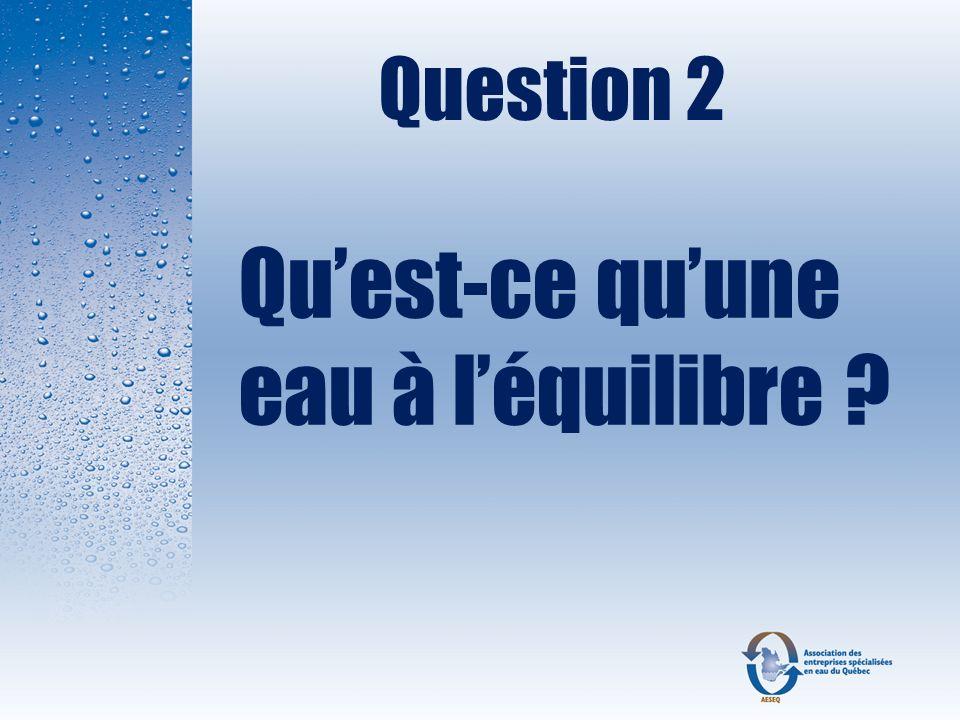 Réponse : VRAI Le sel (chlorure de sodium) doit se conformer au standard NSF / ANSI Standard 60