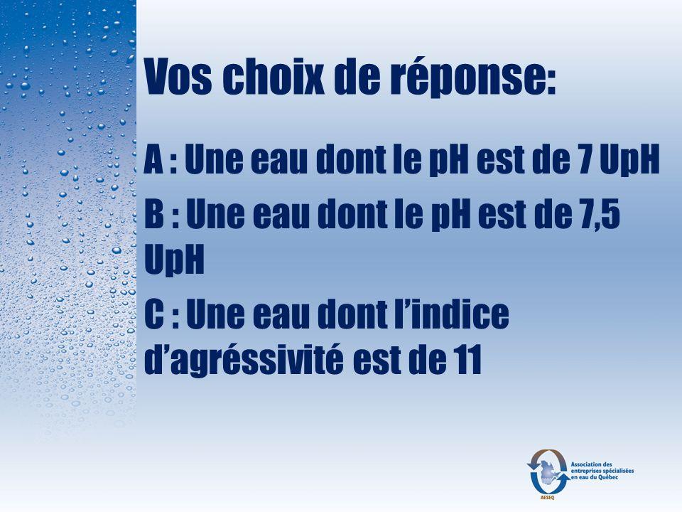 Question 12 Il est important de connaitre labsorbance UV de leau avant linstallation dun système UV ?