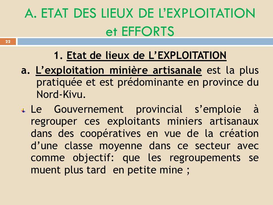 III. EFFORTS DE LA PROVINCE POUR UN ENVIRONNEMENT FAVORABLE AUX SOCIÉTÉS MINIÈRES, AUX INVESTISSEURS ET INFRASTRUCTURES. 21