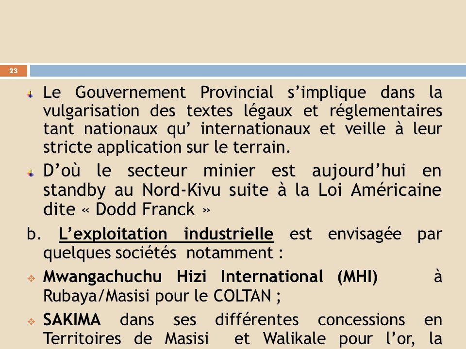 A.ETAT DES LIEUX DE LEXPLOITATION et EFFORTS 1. Etat de lieux de LEXPLOITATION a.