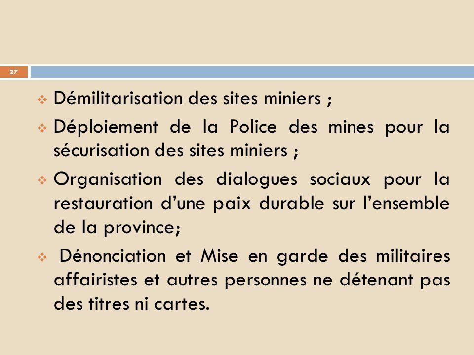 2. Des efforts A. Sur le plan de la sécurité et assainissement: Restauration de lAutorité de lEtat par linstallation des comités locaux de Paix (CLP)