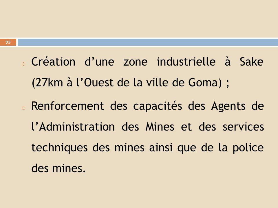 o Amélioration des conditions de vie dans les zones minières dexploitation artisanale :phase Rubaya grâce à un financement japonais exécutée par le PN