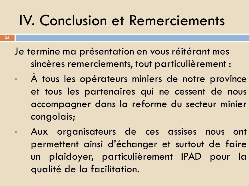 6. Nécessité de lélectrification, dune exploitation industrielle locale dans le secteur minier; 7. Bref, les priorités se résument en « SRECAPE » càd