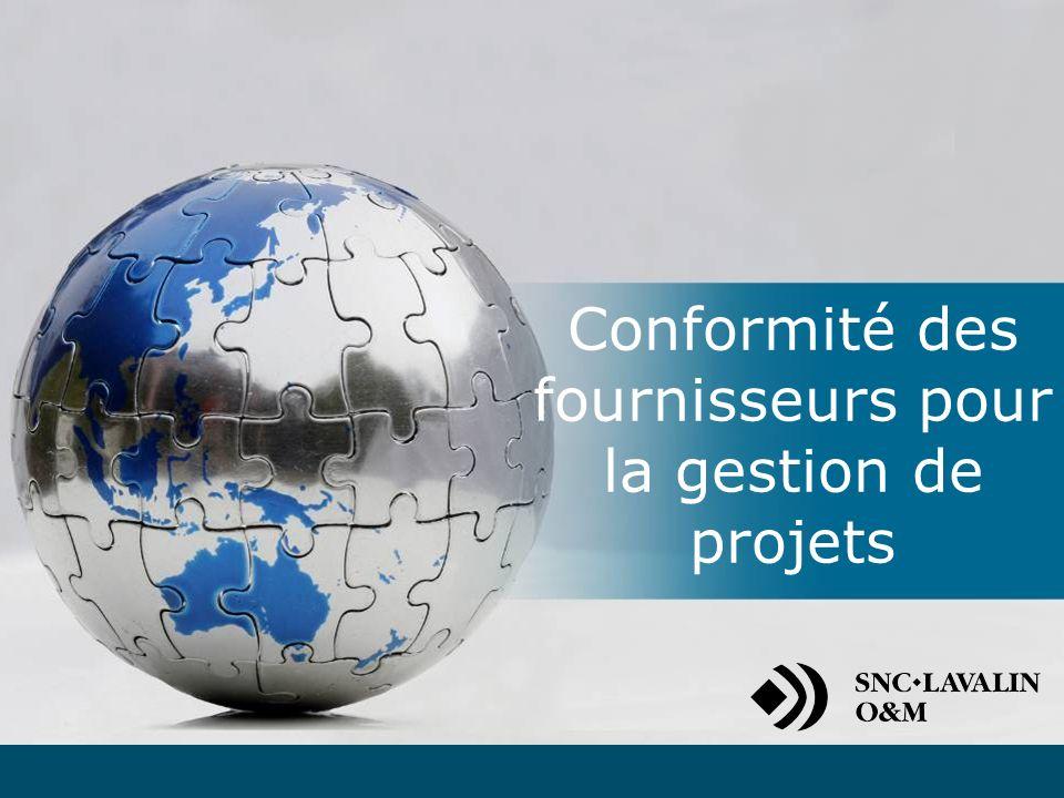 Introduction Trousse de conformité du fournisseur Gestion de la conformité des fournisseurs Processus dattribution des contrats Évaluation de lexécution de la prestation Rotation des fournisseurs Coordonnées