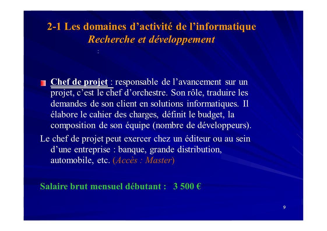 BAC Bac + 2 Bac + 3 BTS / DUT Université Licence 3- Les études en informatique (suite) Bac + 5 Université Master Écoles dingénieurs CPGE 31 Écoles dingénieurs Licence Pro