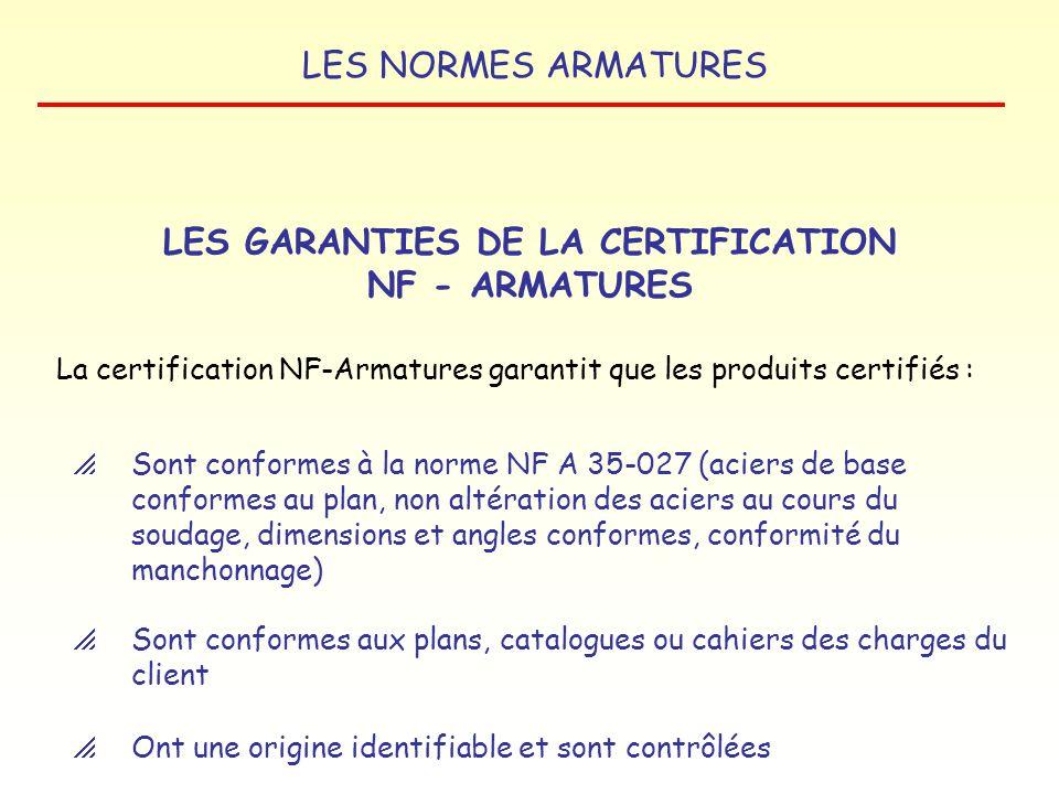 LES NORMES ARMATURES Couvrir les produits ne relevant pas de lEN 10080 La marque NF-A.B.A. subsiste pour : L AVENIR DES MARQUES NF - A.B.A. ET NF - AR