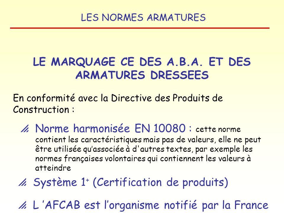 LES NORMES ARMATURES LE MARQUAGE CE LE MARQUAGE CE DES ACIERS POUR BÉTON ARMÉ ET DES ARMATURES DRESSEES