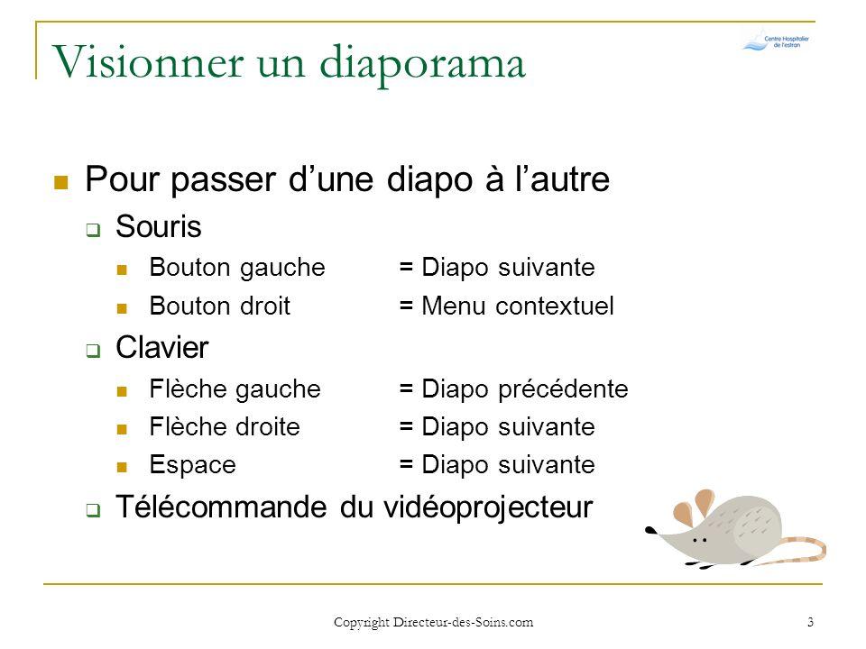 Copyright Directeur-des-Soins.com 2 Objectifs de la formation Optimiser une communication par présentation assistée par ordinateur (PAO) Identifier le