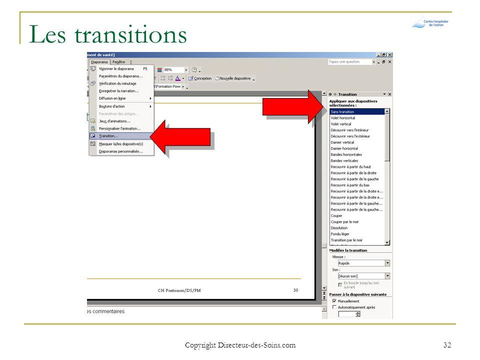 Copyright Directeur-des-Soins.com 31 Visionner un diaporama