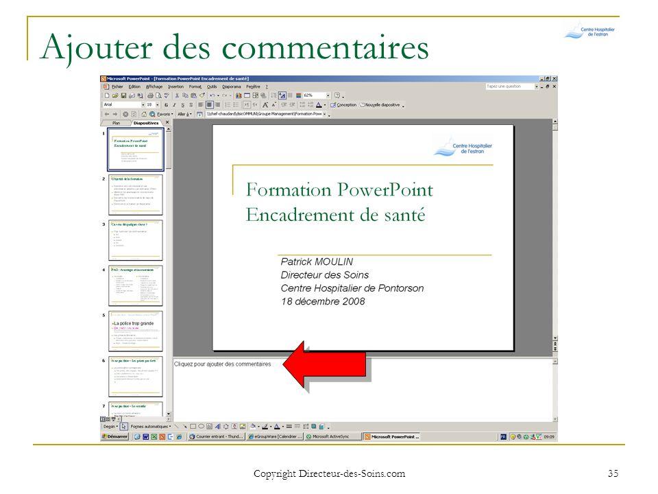 Copyright Directeur-des-Soins.com 34 Ajouter des commentaires