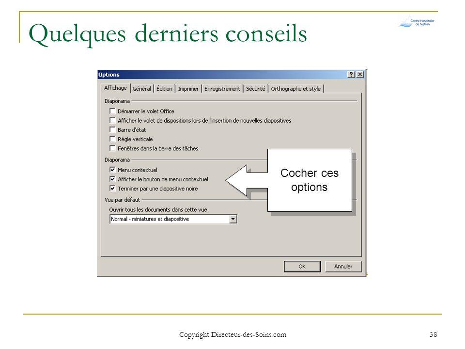Copyright Directeur-des-Soins.com 37 En tête et pied de page