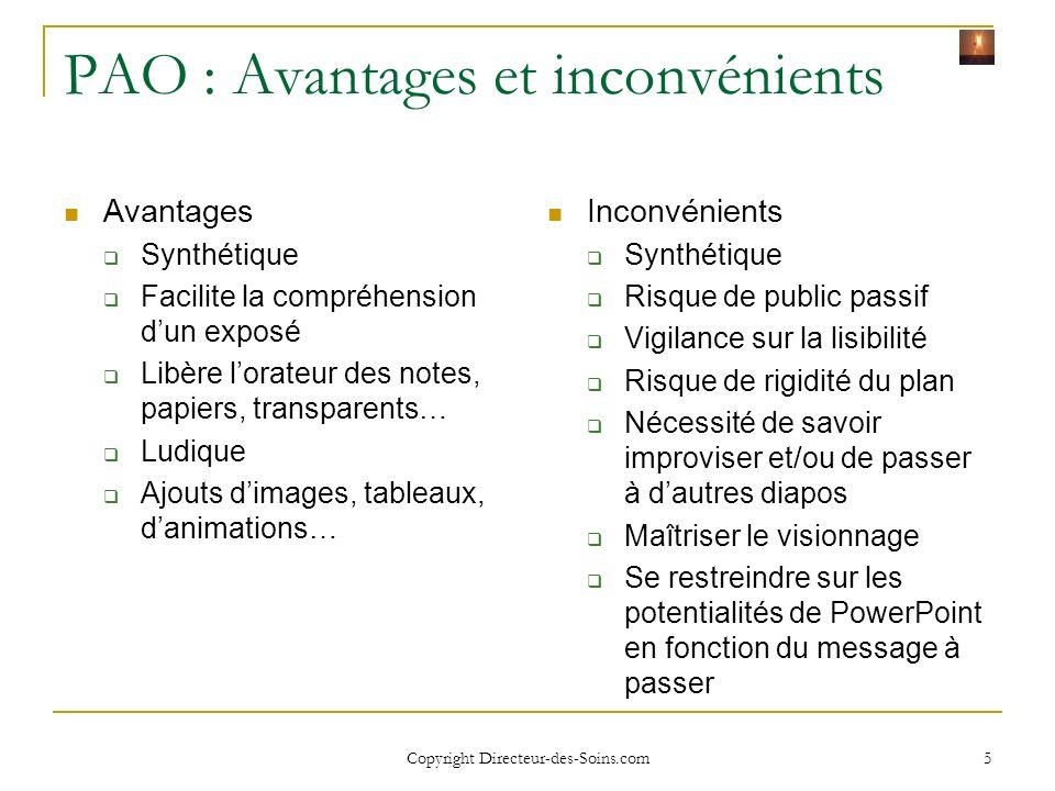 Copyright Directeur-des-Soins.com 15 Ajouter une nouvelle diapositive