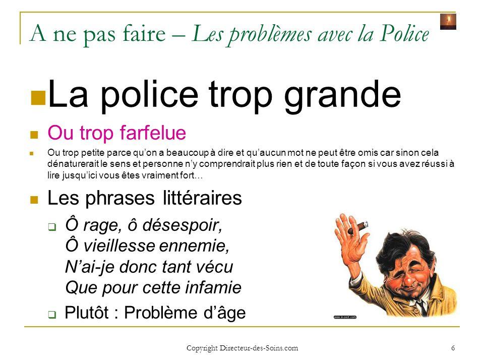 Copyright Directeur-des-Soins.com 16 Affichage