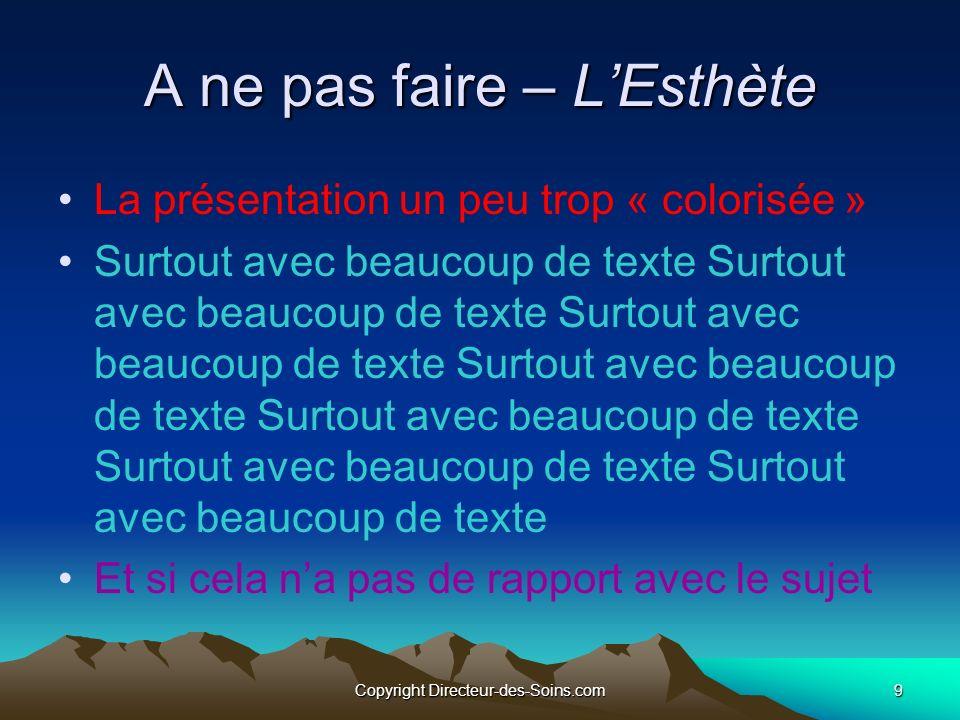 Copyright Directeur-des-Soins.com 29 Animer des images ou des objets