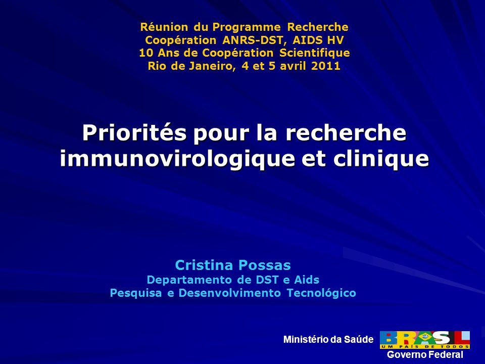 Cristina Possas Departamento de DST e Aids Pesquisa e Desenvolvimento Tecnológico Ministério da Saúde Governo Federal Réunion du Programme Recherche C
