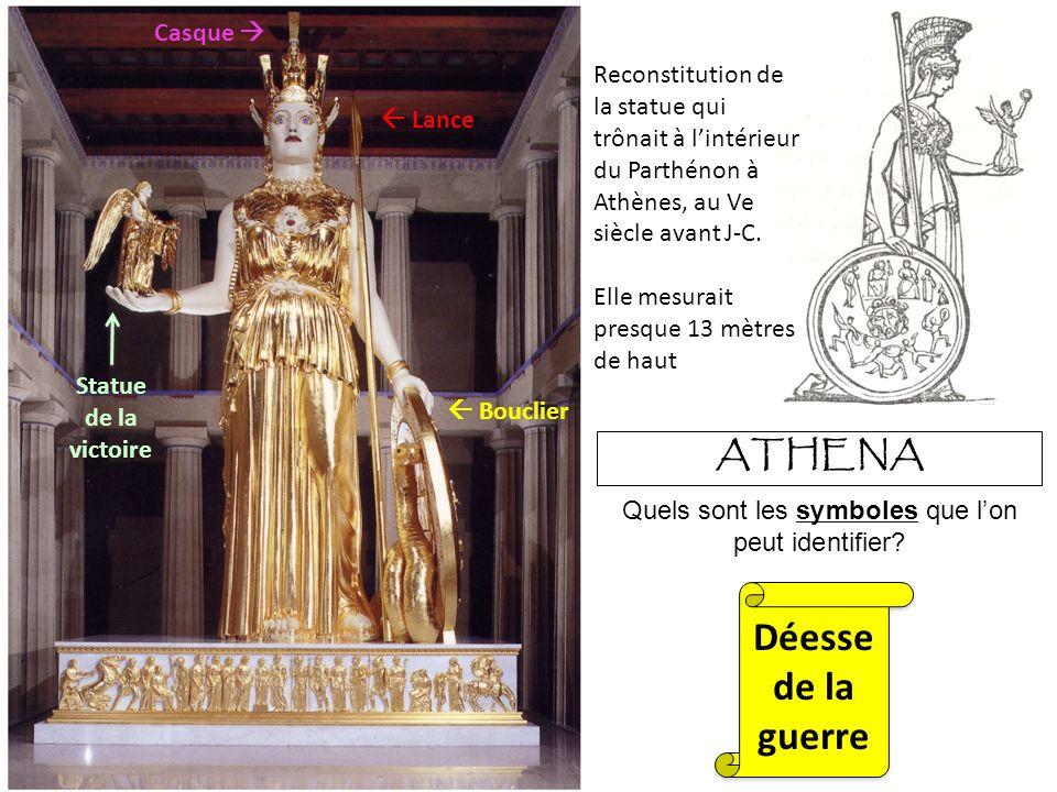 ATHENA Reconstitution de la statue qui trônait à lintérieur du Parthénon à Athènes, au Ve siècle avant J-C.