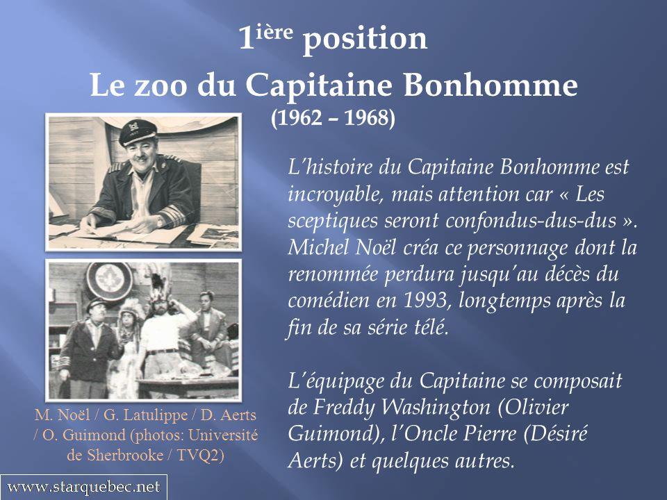 Le zoo du Capitaine Bonhomme (1962 – 1968) 1 ière position Lhistoire du Capitaine Bonhomme est incroyable, mais attention car « Les sceptiques seront confondus-dus-dus ».